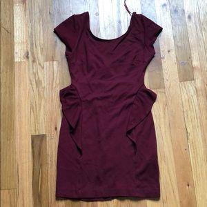 Zara trafaluc burgundy dress